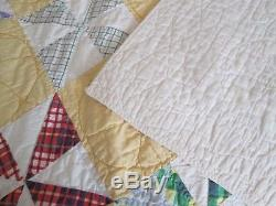 Vintage Hand Made Pinwheel Quilt