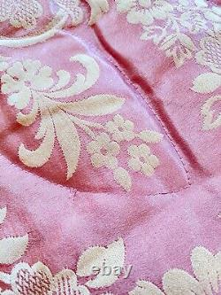 Vintage Hand Made Silk Satin Damask Down Filled Quilt Comforter WW238