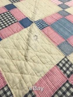 Vintage Handmade 68x701/2 quilt