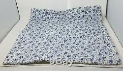 Vintage Handmade Baby Blue Patchwork Crib Quilt Floral Girls Unisex Gingham Lap