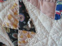 Vintage Handmade Coat Folk Art Patchwork Quilt Amish Sarasota Florida (7)