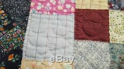 Vintage Handmade Colorful Quilt