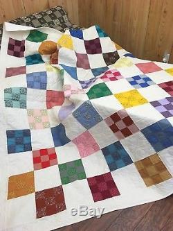 Vintage Handmade Full Size Quilt Never Used Cedar Chest Kept