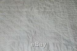 Vintage Handmade HAND STITCHED Quilt Lone Star Quilt VINTAGE 82X83IN