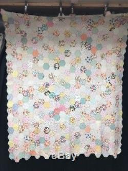 Vintage Handmade Hand Sewn Patchwork Quilt (1402)