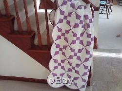 Vintage Handmade Improved Nine Patch Quilt dated 1935