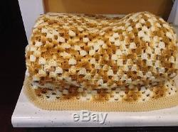 Vintage Handmade Oversize Blanket Quilt Crochet