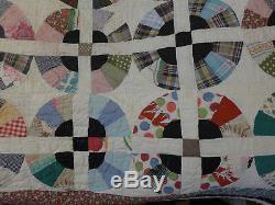 Vintage Handmade Quilt Antique SE Missouri, Size 65 X 80 CLEAN