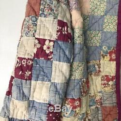 Vintage Handmade Quilt Cropped Jacket