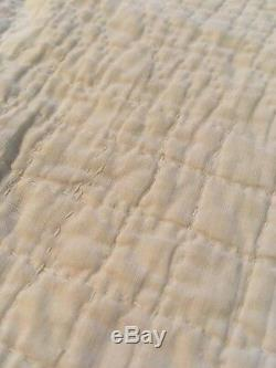 Vintage Handmade Quilt Lightweight Hand Quilted 65 x 71 Soft Worn