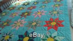 Vintage Handmade Quilt (rare Construction)