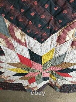 Vintage Handmade Star Quilt 60 X 84