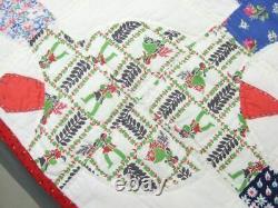 Vintage Handmade Turtles on Quilt c 1945