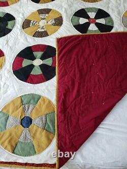 Vintage Log Cable Quilt Handmade Full or Queen Size Stunning