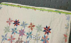 Vintage Quilt 8 POINT STAR Handmade
