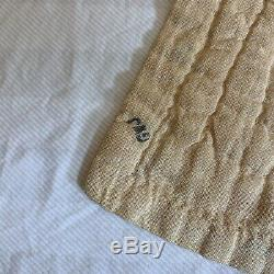 Vintage Quilt, Handmade Hand Quilted 76 x 63 Dresden Plate Ivory Pastels