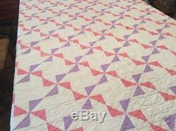 Vintage Quilt. Handmade. Pin Wheel. Beautiful