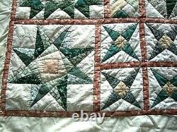 Vintage Single Bed Handmade Patchwork QUILT/ THROW 94 long x 77 wide