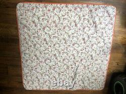 Vintage Star Square Mennonite Handmade Baby Crib QUILT 45x45 Multi Color