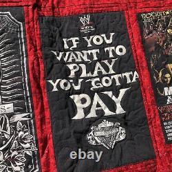 Vintage T-Shirt Memory Quilt Mario, Marilyn Manson, WWE, OzzFest, POA 2001