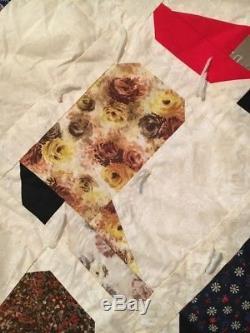 Vintage handmade patchwork quilts