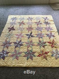 Vintage handmade patchwork quilts 1940, s 65WX78L