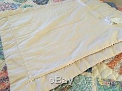 Vtg Handmade Patchwork Arch Quilts Rainbow Fan Scalloped Edge Shams Twin #863