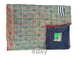 Wholesale Indian Vintage Kantha Quilt Old Sari Handmade Reversible Kantha Throw