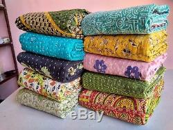 Wholesale Lot 10 Pc Indian Handmade Reversible Cotton Vintage Kantha Quilts