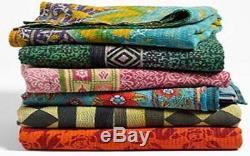 Wholesale Lot of 10 Pcs Reversible Handmade Indian Vintage Kantha Quilt Throw