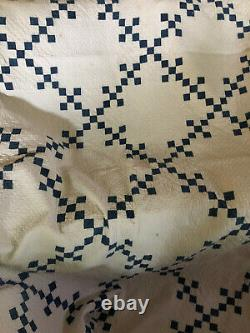 Wonderful Blue & White 9 Patch for display or cutter- amazing quilting